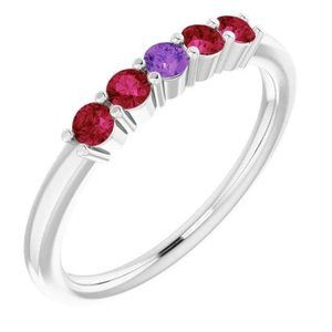 Band Sapphire Ruby Ring 1.50 Carats Women Jewelry